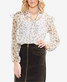 Vince Camuto Ruffled Tie-Front Top