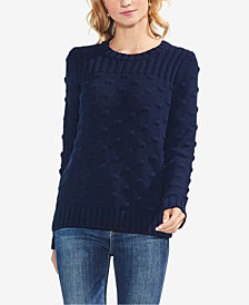 Vince Camuto Cotton Textured Popcorn-Stitch Sweater