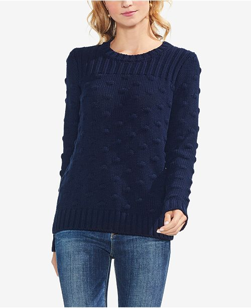 62c3114b03bf Vince Camuto Cotton Textured Popcorn-Stitch Sweater   Reviews ...
