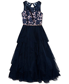 Rare Editions Big Girls Embroidered Sequin Dress