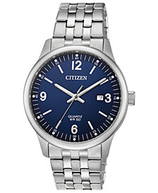 Citizen Men's Quartz Stainless Steel Bracelet Watch, Created for Macy's, 40mm