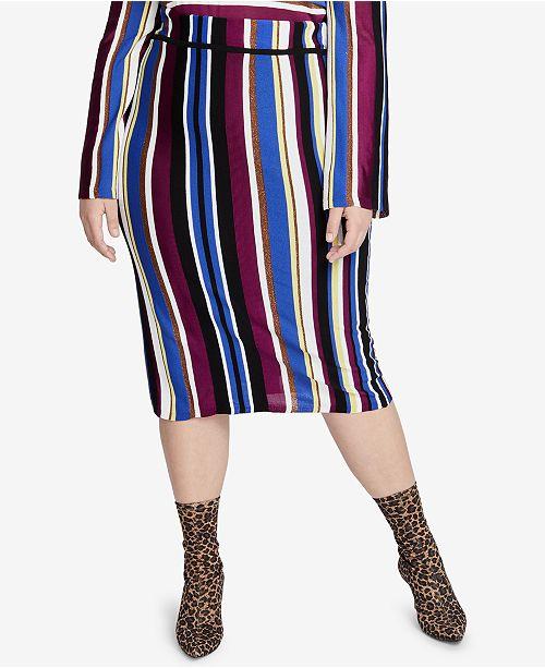 ac0fb80170 ... RACHEL Rachel Roy Trendy Plus Size Royal Stripe Pencil Skirt ...
