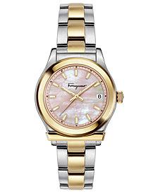 Ferragamo Women's Swiss 1898 Two-Tone Stainless Steel Bracelet Watch 33mm