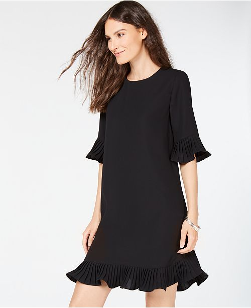fdc8334aef5 Alfani Petite Pleated-Trim Flounce Dress
