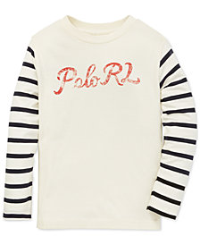 Polo Ralph Lauren Little Boys Graphic Cotton Long-Sleeve T-Shirt