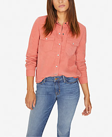 Sanctuary Cotton Snap-Front Shirt