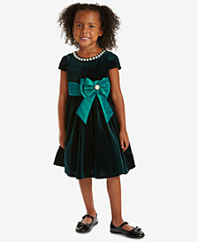 Rare Editions Toddler Girls Velvet Fit & Flare Party Dress
