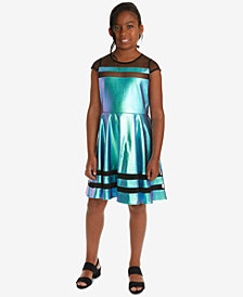 Rare Editions Big Girls Faux Leather Dress