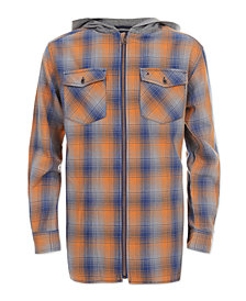 Tommy Hilfiger Big Boys Dexter Hooded Flannel Shirt