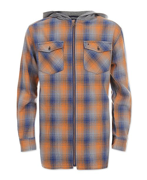 cbb595fd6b3f9 Tommy Hilfiger Big Boys Dexter Hooded Flannel Shirt   Reviews ...