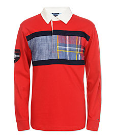 Tommy Hilfiger Big Boys Rugby Chest Flag Sweater