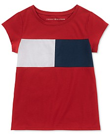 Tommy Hilfiger Big Girls Pieced Flag T-Shirt