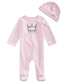 First Impressions Baby Girls 2-Pc. Princess Coverall & Hat Set, Created for Macy's