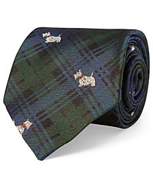 Polo Ralph Lauren Men's Terrier-Print Silk Tie