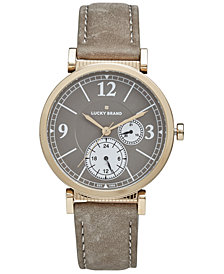 Lucky Brand Women's Carmel BoyFriend Taupe Leather Strap Watch 38mm