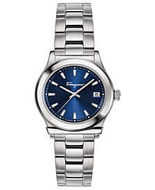Ferragamo Women's Swiss 1898 Stainless Steel Bracelet Watch 28mm