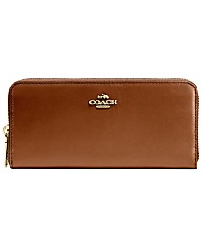 COACH Slim Accordion Zip Wallet in Smooth Leather
