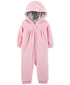 Carter's Baby Girls Heathered 1-Pc. Jumpsuit