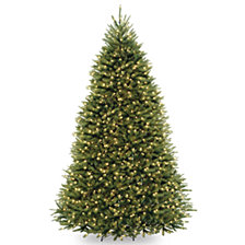 National Tree 9' Dunhill  Fir Hinged Tree with Clear Lights