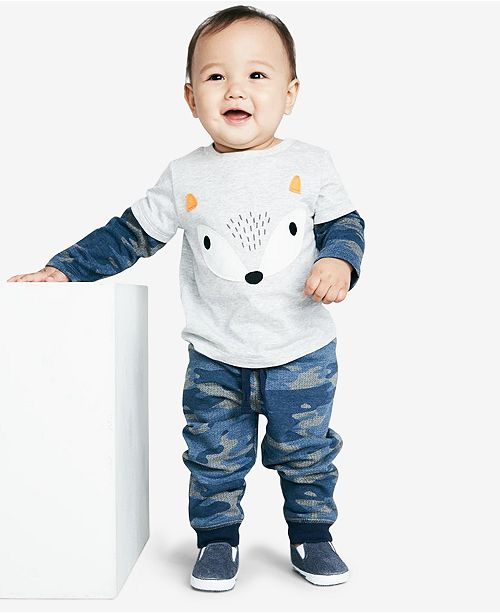 4d7aae4d8 First Impressions Baby Boys Camo-Print Jogger Pants, Created for Macy's ...