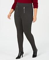 fc7601e24b810 I.N.C. Shaping Plus Size Zip Menswear Leggings