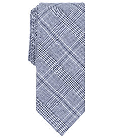 Tallia Men's Sebring Glen Plaid Slim Tie