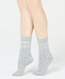 Lauren Ralph Lauren Snowflake-Border Boot Socks