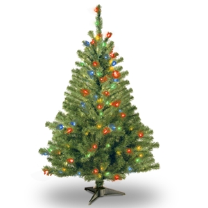 National Tree 4' Kincaid Spruce Tree w/100 Multi Lights