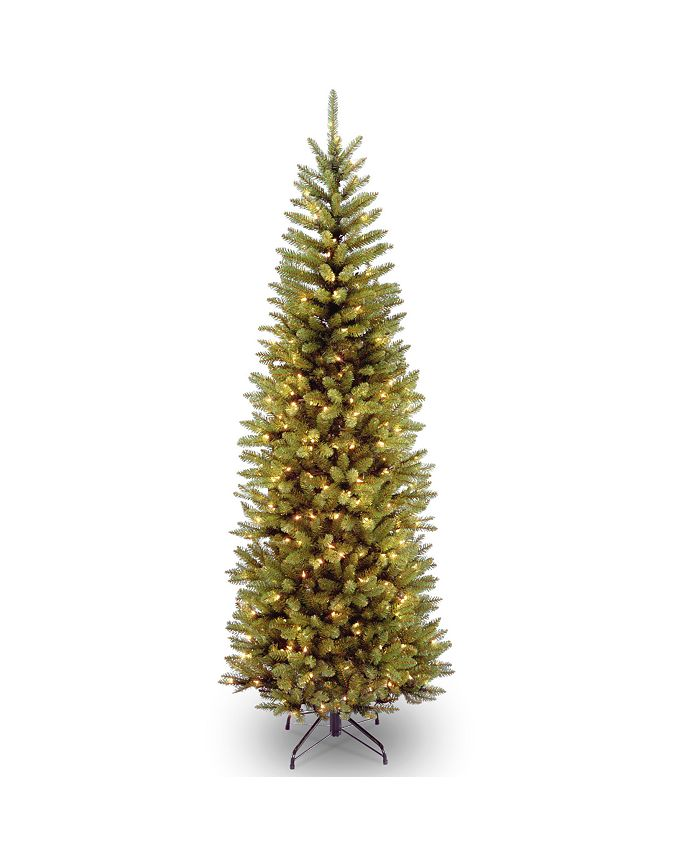 National Tree Company - National Tree 6 .5' Kingswood Fir Hinged Pencil Tree with 250 Clear Lights