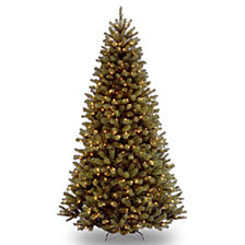 National Tree 9' North Valley Spruce Hinged Tree with 900 Clear Lights