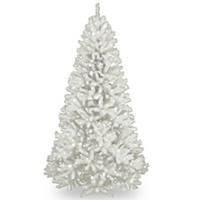 National Tree 9' North Valley White Spruce Tree with Glitter and 750 Clear Lights