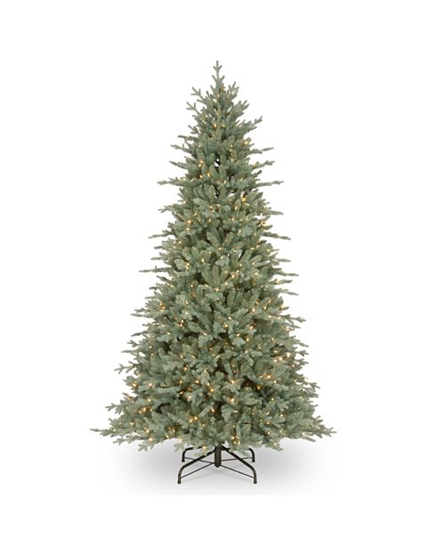 National Tree Company National Tree 7 .5' Feel Real Buckingham Blue Spruce Hinged Tree with 650 Clear Lights