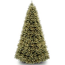 National Tree 9' Feel RealDownswept Douglas Fir Hinged Tree with 1200 Clear Lights