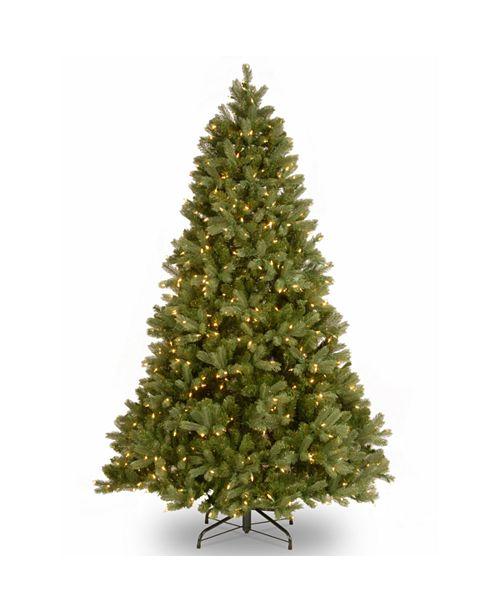 "National Tree Company National Tree 7 .5' ""Feel Real"" Downswept Douglas Fir Hinged Tree with 750 Clear Lights"