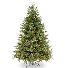 "National Tree 7 .5' ""Feel Real"" Frasier Grande Hinged Tree with 1000 Clear Lights"