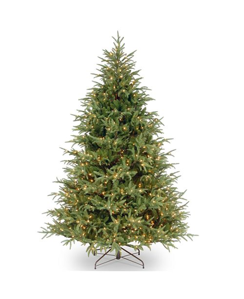 """National Tree Company National Tree 7 .5' """"Feel Real"""" Frasier Grande Hinged Tree with 1000 Clear Lights"""