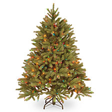National Tree 4 .5' Feel Real Jersey Fraser Fir Tree with 350 Multi Lights