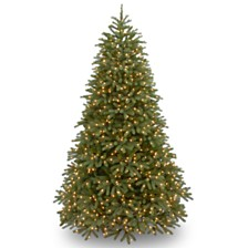 "National Tree 9' ""Feel Real"" Jersey Frasier Fir Medium Hinged Tree with 1500 Clear Lights"