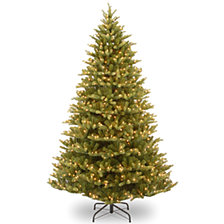 "National Tree 7.5' ""Feel Real"" Normandy Fir Hinged Tree with 1000 Clear Lights"