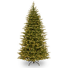 National Tree Company 6 .5' Feel Real  Nordic Spruce Slim Hinged Tree with 500 Dual Color  LED Lights