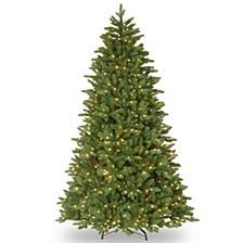 "National Tree 7 .5' ""Feel Real"" Ridgewood Spruce Hinged Tree with 750 Clear Lights"