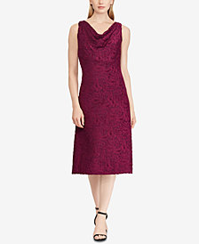 Lauren Ralph Lauren Lace Cowl Neck Dress