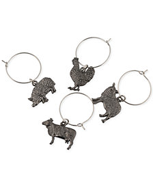 Thirstystone Set of 4 Farm Animal Wine Charms