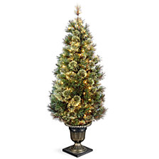 National Tree Company 5' Wispy Willow Grande Entrance Tree with 100 Clear Lights