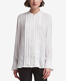 DKNY Split-Cuff Blouse, Created for Macy's