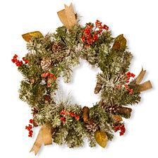 "National Tree Company 24"" Chrimas Wreath with Cones"