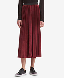 DKNY Pleated Maxi Skirt, Created for Macy's