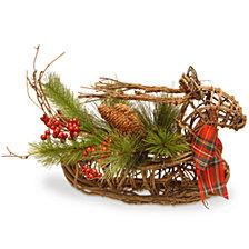"""National Tree 14"""" Christmas Deer Decor"""