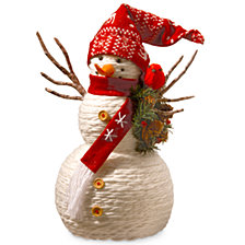 "National Tree 19"" Fabric Snowman"