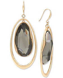 Robert Lee Morris Soho Gold-Tone Stone Orbital Drop Earrings